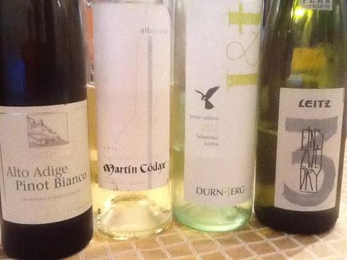 dry white wines
