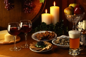 thanksgiving-appetizers-with-beer-and-wine