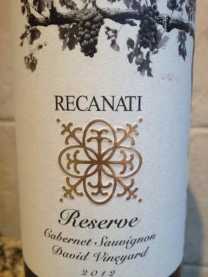 recanati reserve Cab
